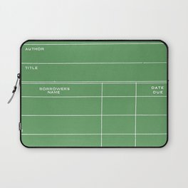 Library Card BSS 28 Negative Green Laptop Sleeve