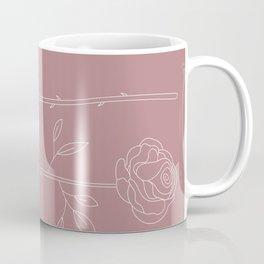 Dusky Pink Roses Coffee Mug