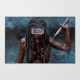 Michonne And Her Sword - The Walking Dead Canvas Print