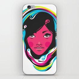 CMYK girl iPhone Skin