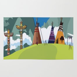 American Native Landscape No. 2 Rug