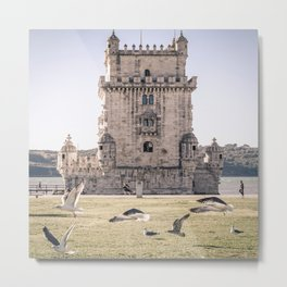 Belem Tower Lisboa Portuga Metal Print