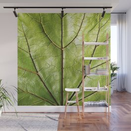 GREEN ORGANIC LEAF WITH VEINS DESIGN ART Wall Mural