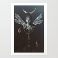 moonrise Art Prints featuring Moonrise by LauraSava