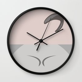 Seven of Nine -Minimalist Star Trek Voyage VOY - 7 of 9 - Delta Quadrant - startrek Trektangles Wall Clock