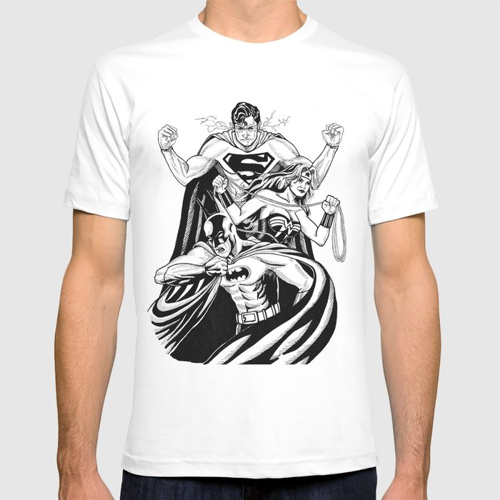 Justice League Trinity: The Caped Crusader, Diana Prince, Superman T-shirt