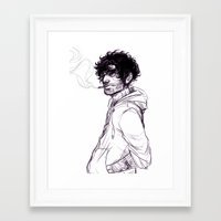 grantaire Framed Art Prints featuring Grantaire by batcii