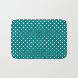 Dots (White/Teal) Bath Mat