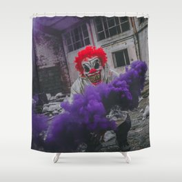 Halloween Scary Clown (Color) Shower Curtain