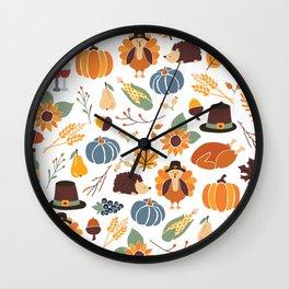 Thanksgiving Celebration Wall Clock
