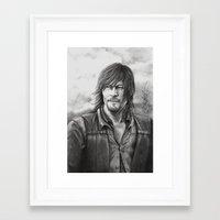 daryl dixon Framed Art Prints featuring Daryl Dixon by Megan Halvorson