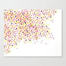 Watercolor Confetti! Canvas Print