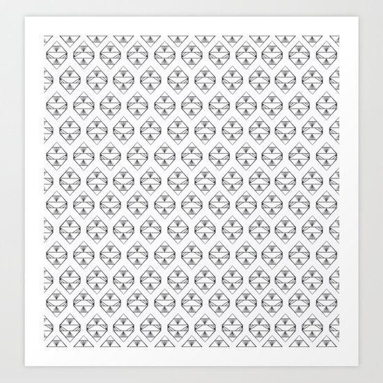 Black and White Diamonds  Art Print