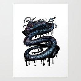 Dragon Swirl Art Print
