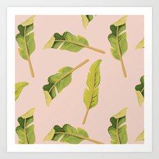 Tropical '17 - Solar [Banana Leaves] Art Print