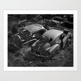 Junkyard Cars 2 Art Print