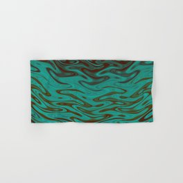 Ripples Fractal in Teals Hand & Bath Towel