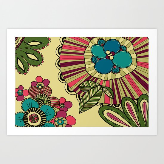 pattern with flowers Art Print