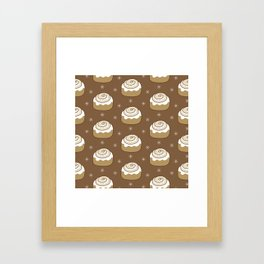 Cinnamon Bun Framed Art Print