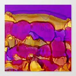 Vistas in Violet and Gold Canvas Print