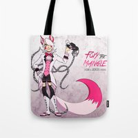 fnaf Tote Bags featuring The Mangle by Jackce