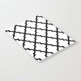 Moroccan Quatrefoil Pattern: Black & White Notebook