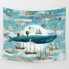 Ocean Meets Sky - book cover Wall Tapestry