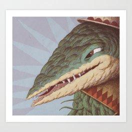Croc Surprise Art Print