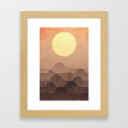 sunrise, hills Framed Art Print