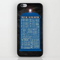 luke hemmings iPhone & iPod Skins featuring Doctor Who  by Luke Eckstein