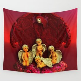 #Christmas Angels Wall Tapestry