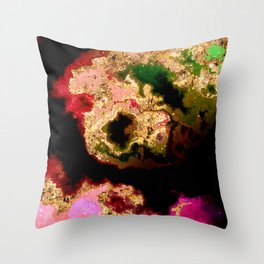 100 Starry Nebulas in Space 039 (Portrait) Throw Pillow