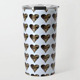 cute kitten in a heart 2-  Leon Huber - A basket full of cat Travel Mug