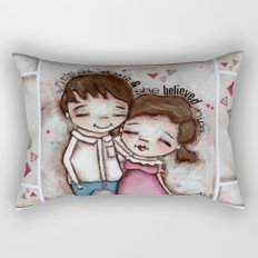 She Believed Him - by Diane Duda Rectangular Pillow