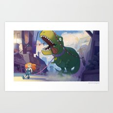 Bring Your Pet to School Day Art Print