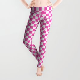 Small Checker Print - Pink and White Leggings