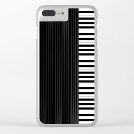 Piano vector art Clear iPhone Case
