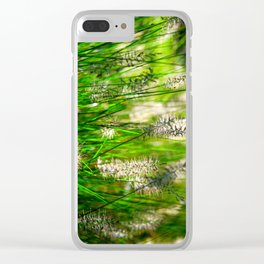 Grass (1) Clear iPhone Case