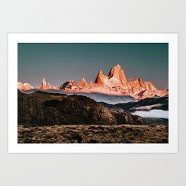 Patagonia Fitz Roy Sunrise Art Print