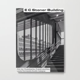 Concrete Leeds - EC Stoner Building Metal Print