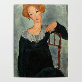 """Amedeo Modigliani """"Woman with Red Hair"""" (1917) Poster"""