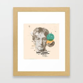 john lenon-imagine Framed Art Print