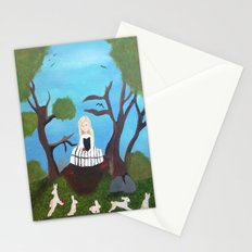 Skull Girl Stationery Cards