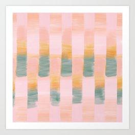 Sunrise Stripes Digital Watercolor Art Print