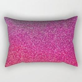 Modern pink purple ombre faux glitter color block Rectangular Pillow