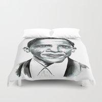 obama Duvet Covers featuring Obama by Bridget Davidson