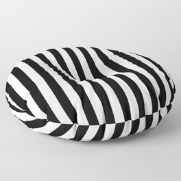Black and white vertical stripes | Classic cabana Stripe Floor Pillow