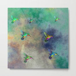 Secret Escape Hummingbird Design Metal Print