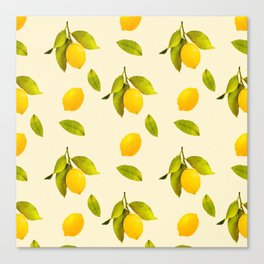 Lemon Pattern Canvas Print