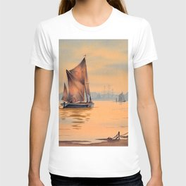 Thames Barges At Greenwich London T-shirt